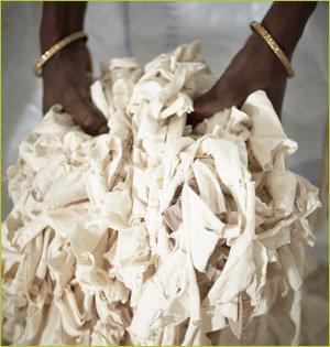 Salvage gerecyclede kleding productieproces 1
