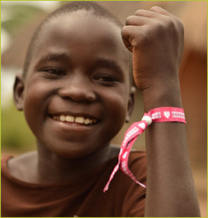 Cordaid vriendschapsbandje Oeganda
