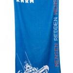handdoek bedrukken - voorbeeld: KNRM handdoek