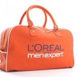 tassen bedrukken - voorbeeld: L'Oréal retro sporttas