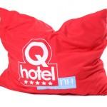 textiel bedrukken - voorbeeld: Qmusic kussensloop