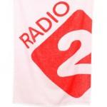 handdoek bedrukken - voorbeeld: Radio2 handdoek