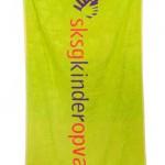 handdoek bedrukken - voorbeeld: SKSG handdoek