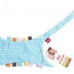 handdoek bedrukken - voorbeeld: Ziggo tutteldoekje blauw