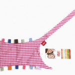 handdoek bedrukken - voorbeeld: Ziggo tutteldoekje roze