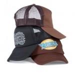 custom made caps - voorbeeld: Zwarte Cross trucker cap zwart en chocolade