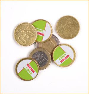 GroenLinks muntstickers