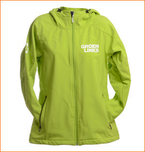 GroenLinks softshell jas gerecycled PET