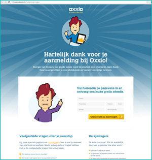 Oxxio printscreen website