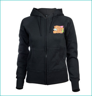 zwarte cross dames hooded jacket