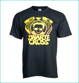 zwarte cross heren t-shirt tante rikie