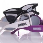 zonnebrillen-bedrukken - voorbeeld: Mainstreet zonnebrillen pootje bedrukt