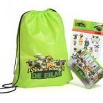 kinder gadgets - bijvoorbeeld: Shaun the Sheep rugzak stickers en broodbak