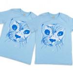 kinderkleding bedrukken - voorbeeld: Zeehondencreche T-shirt kind blauw