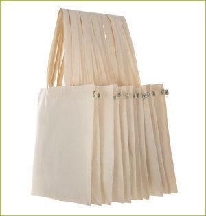 plastic tasjes verbod - voorbeeld: biologisch katoenen tas EP70