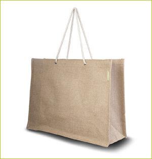 plastic tasjes verbod - voorbeeld: jute tas elegant