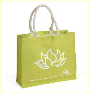 plastic tasjes verbod - voorbeeld: jute tas groen