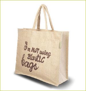 plastic tasjes verbod - voorbeeld: jute tas tekst