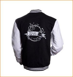 varsity jacket bedrukken - voorbeeld: varsity jacket 3fm