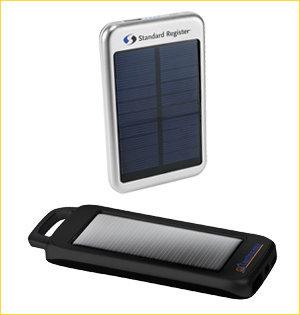 powerbank bedrukken - voorbeeld: powerbank p solar