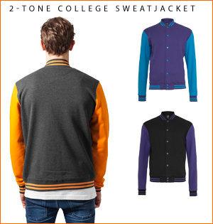 varsity jacket bedrukken - voorbeeld: 2-tone college sweatjacket 1