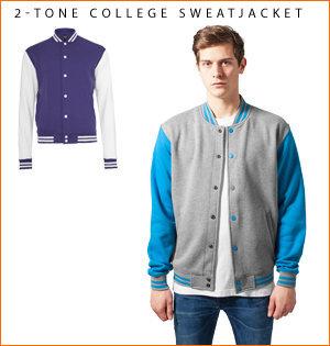 varsity jacket bedrukken - voorbeeld: 2-tone college sweatjacket 2