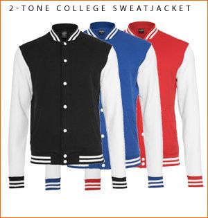 varsity jacket bedrukken - voorbeeld: 2-tone college sweatjacket 3