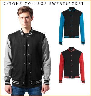 varsity jacket bedrukken - voorbeeld: 2-tone college sweatjacket 4