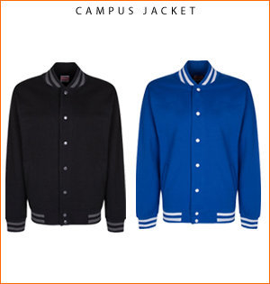 varsity jacket bedrukken - voorbeeld: campus jacket 1