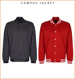 varsity jacket bedrukken - voorbeeld: campus jacket