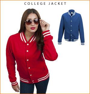varsity jacket bedrukken - voorbeeld: college jacket 1