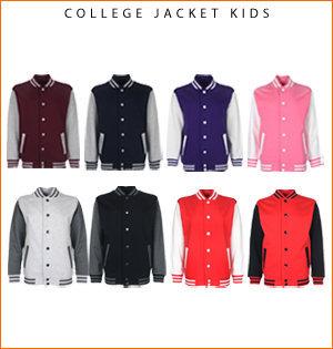 varsity jacket bedrukken - voorbeeld: college jacket kids