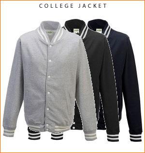 varsity jacket bedrukken - voorbeeld: college jacket
