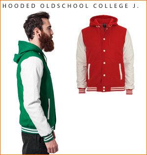 varsity jacket bedrukken - voorbeeld: hooded oldschool j 1