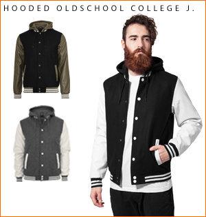 varsity jacket bedrukken - voorbeeld: hooded oldschool j