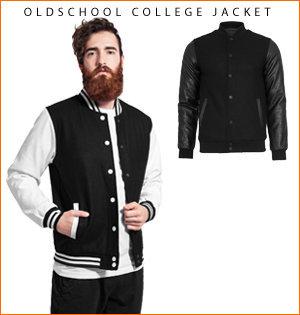 varsity jacket bedrukken - voorbeeld: oldschool college jacket 1