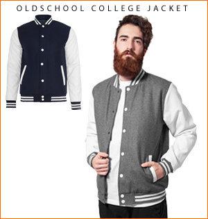 varsity jacket bedrukken - voorbeeld: oldschool college jacket