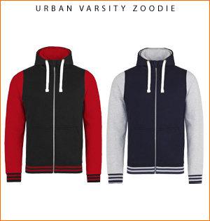 varsity jacket bedrukken - voorbeeld: urban varsity zoodie