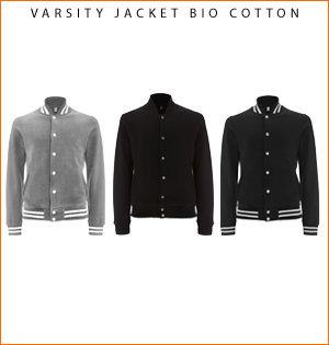 varsity jacket bedrukken - voorbeeld: varsity biologisch katoen 1