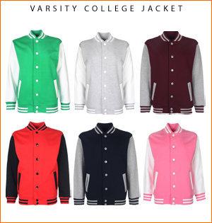 varsity jacket bedrukken - voorbeeld: varsity college jacket
