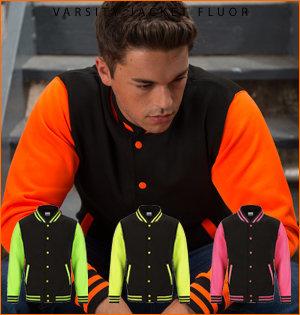 varsity jacket bedrukken - voorbeeld: varsity jacket fluor 1