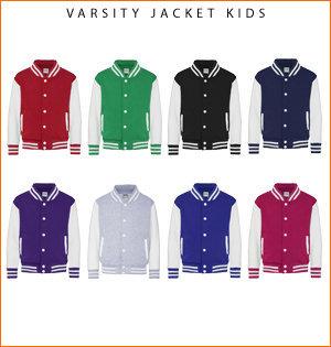 varsity jacket bedrukken - voorbeeld: varsity jacket kids