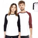 t-shirt bedrukken - voorbeeld: continental clothing earth positive baseballshirt
