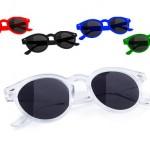 zonnebrillen-bedrukken - voorbeeld: zonnebril transparant rond