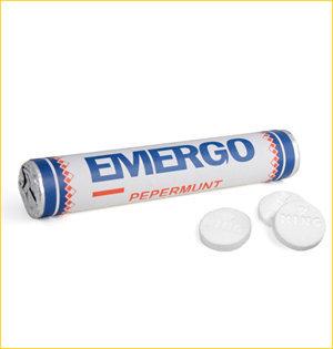 promotionele artikelen - voorbeeld: emergo pepermuntrol