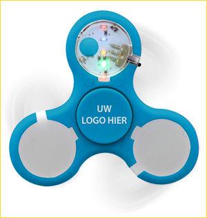 fidget spinner bedrukken - voorbeeld: fidget spinner led blauw