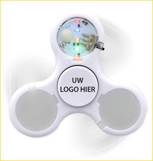 fidget spinner bedrukken - voorbeeld: fidget spinner led wit