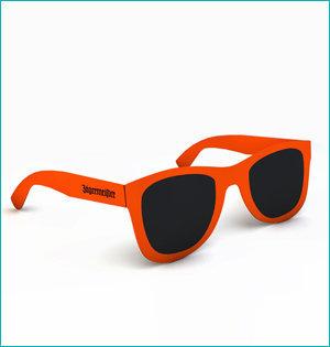 zonnebril in ansichtkaart - voorbeeld: zonnebril-Jagermeister