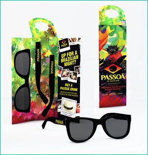 zonnebril in ansichtkaart - voorbeeld: zonnebril Passoa