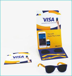 zonnebril in ansichtkaart - voorbeeld: zonnebril Visa